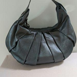 Leather gunmetal Anne Klein purse